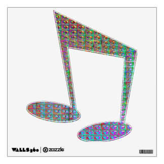 psychadelic music wall decal