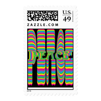 psychadelic peace postage stamp