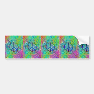 Psychadelic Peace Sign Bumper Sticker