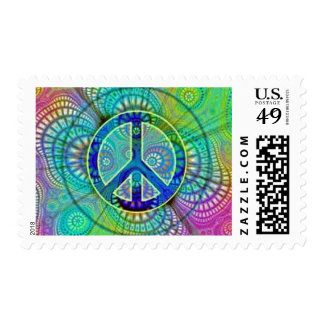 Psychadelic Peace Sign Postage
