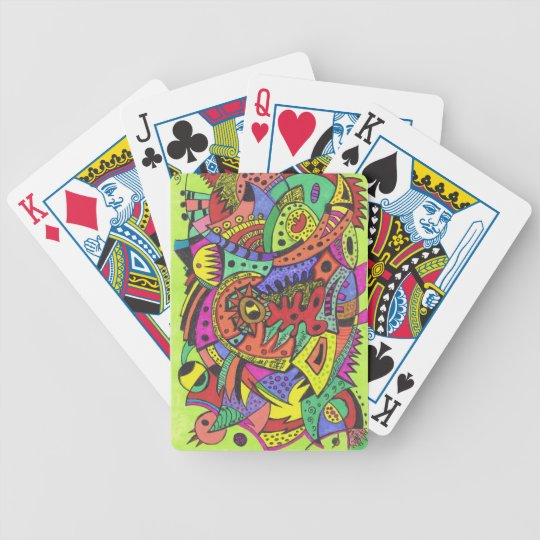 Psychadelic playing cards