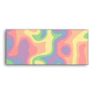 Psychadelic rainbow business sized envelopes
