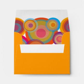 Psychadelic Rainbow Pop Circles Fun Party Envelope