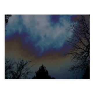 Psychadelic Sky Postcard