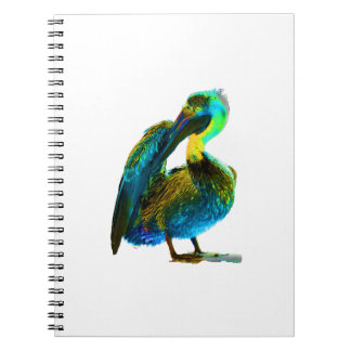 Psychadelic Young Pelican Cleaning Notebook