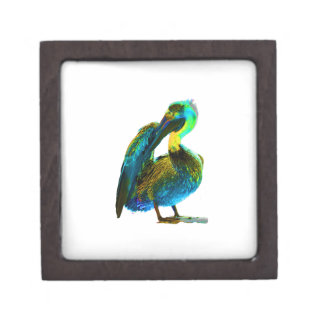 Psychadelic Young Pelican Cleaning Premium Keepsake Box