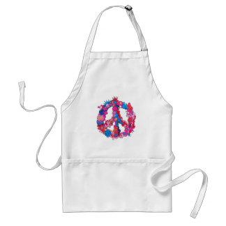 Psychdeclic Peace Symbol Adult Apron