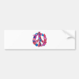Psychdeclic Peace Symbol Bumper Sticker