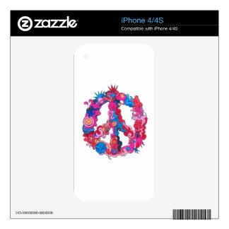Psychdeclic Peace Symbol iPhone 4 Skin