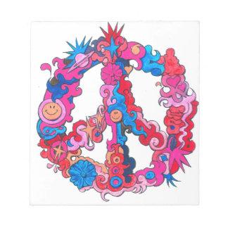 Psychdeclic Peace Symbol Notepad