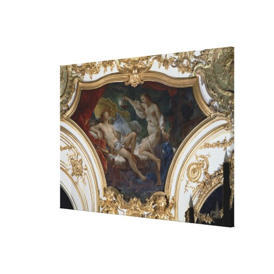 Psyche and Cupid, ceiling panel from the Salon de Canvas Print
