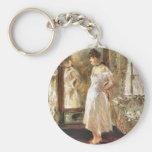 Psyche Berthe Morisot Fine Ar Keychains