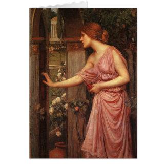 Psyche Entering Cupid's Garden by Waterhouse Card