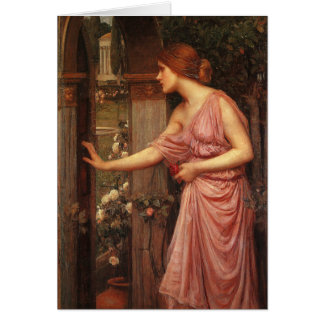 Psyche Entering Cupid's Garden by Waterhouse Greeting Card