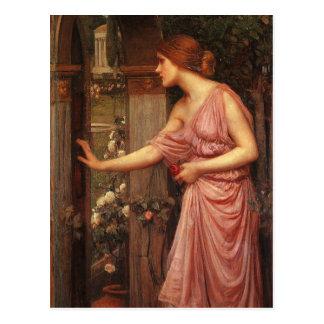 Psyche Entering Cupid's Garden by Waterhouse Postcard