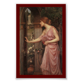 Psyche Entering Cupid's Garden Poster