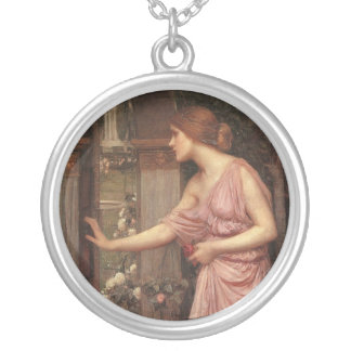 Psyche Entering Cupid's Garden Silver Plated Necklace