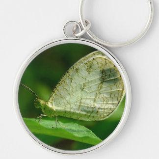 Psyche Leptosia Nina Butterfly Keychain