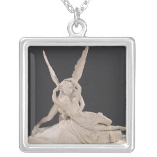 Psyche Revived by the Kiss of Cupid 1787-93 Square Pendant Necklace