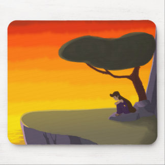 Psyche waits on a cliff mouse pad
