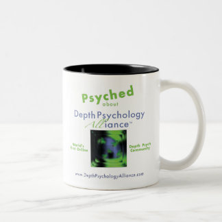 """Psyched"" about Depth Psychology Alliance Two-Tone Coffee Mug"