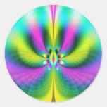 Psychedelia del vidrio esmerilado etiqueta