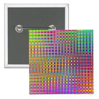 Psychedelia Square Button