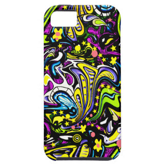 Psychedelic 60s Abstract Art iPhone SE/5/5s Case