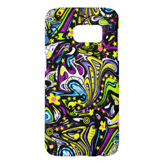 Psychedelic 60s Abstract Art Samsung Galaxy S7 Case