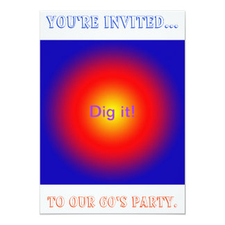 Psychedelic 60's Party Invitation