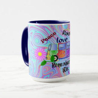 Psychedelic '60s--Peace, Love, Rock 'n' Roll Mug