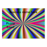 Psychedelic 70s business card