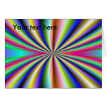 Psychedelic 70s greeting card