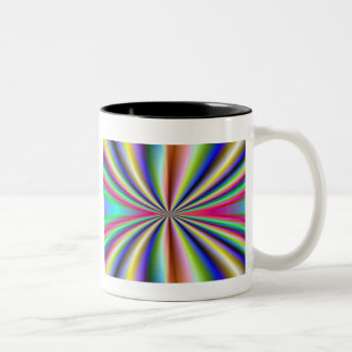 Psychedelic 70s Two-Tone coffee mug