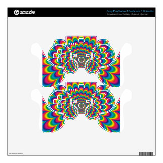 psychedelic #7 PS3 controller decals