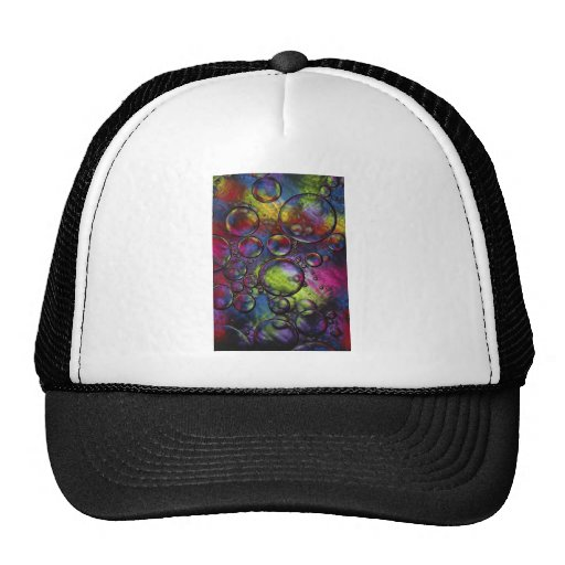 psychedelic abstract art hats