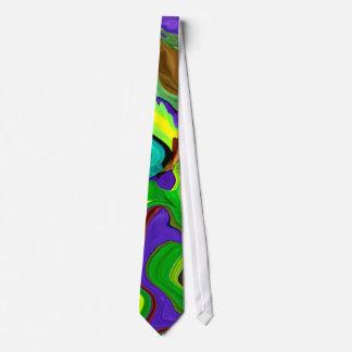 Psychedelic Abstract Art Men's neck tie