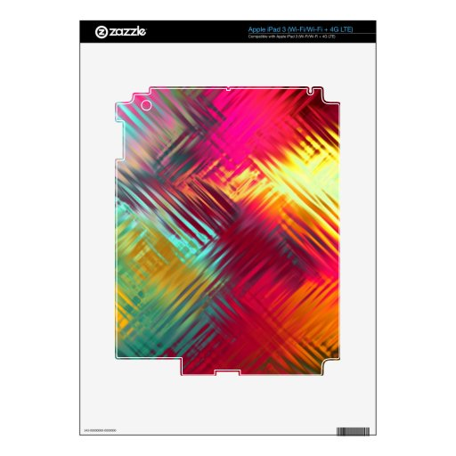 Psychedelic Abstract Colorful Pattern iPad 3 Decal