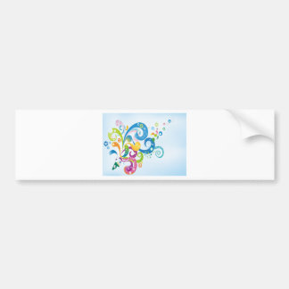 psychedelic abstract colour splash bumper sticker