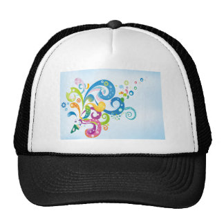 psychedelic abstract colour splash trucker hat