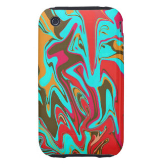 Psychedelic Abstract Design iPhone 3 Tough Cover