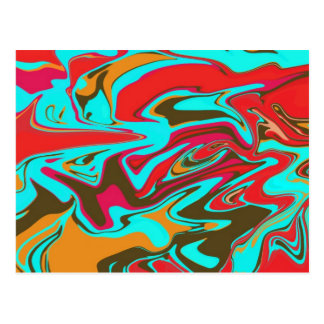 Psychedelic Abstract Design Postcard