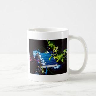 psychedelic abstract notepad coffee mug