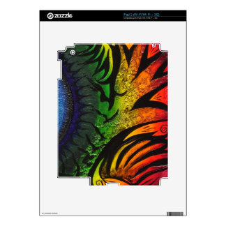 psychedelic abstract painting decals for the iPad 2