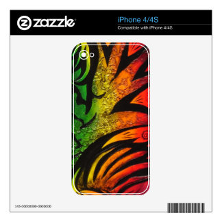 psychedelic abstract painting iPhone 4 decals