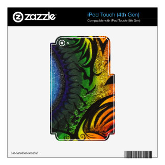 psychedelic abstract painting skins for iPod touch 4G
