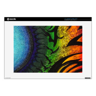 psychedelic abstract painting skins for laptops