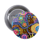 Psychedelic abstract pattern 2 inch round button