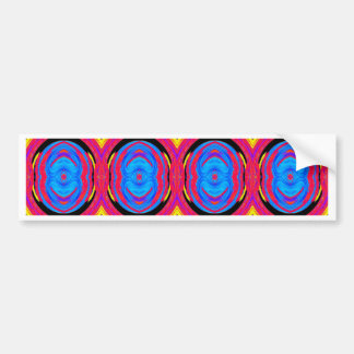 Psychedelic Abstract Pattern: Bumper Sticker