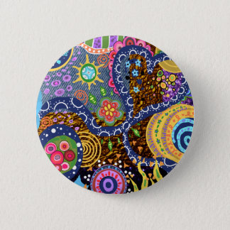 Psychedelic abstract pattern button